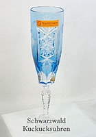 Nachtmann Grape Champagne Flute aquamarine