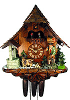 8-Day Cuckoo Clock Chalet Music Clock-Seller, 18.9 inch