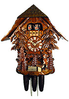 8-Day Cuckoo Clock Chalet Music The Wood Chopper, 16.9inch
