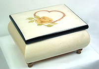 Music Box white, Inlay: Heart, Imagine, 4.7inch