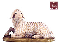 Farm Nativity Sheep lying 3.54inch color