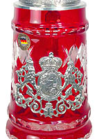 Limited Crystal Stein with Pewter Knight, 11.4inch