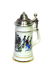 Mini Beerstein Germany Eagle & Flags, 3.9inch