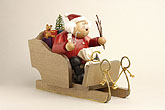 KWO Smoker Santa Claus on sleigh 7.9 inches