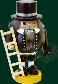 RG Nutcracker Chimney Sweep, 7.5 inches