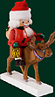 RG Nutcracker Santa on Reindeer, 10 inches