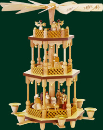 RG Pyramid 2-tier Nativity, 15 inches
