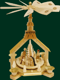 RG Pyramid Church, Nativity, 10.5 inches