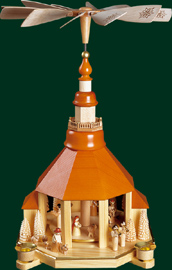 Church Pyramid, Nativity, 18.5 inches