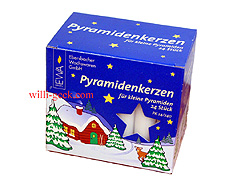 Pyramid Candles small, white