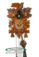 Quarz Carving Cuckoo Clock, Music, 9 inch