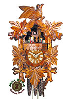 1-Day Cuckoo Clock Music Dancer 5 Leaves, 15 ínch