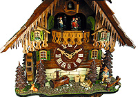 8-Day Cuckoo Clock Chalet Music Mill Farm, 19.7 in