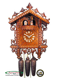 8-Day Cuckoo Clock Music Dancer 1885 Train Station 17inch