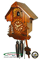 1-Day Cuckoo Clock Black Forest House, 8.66 in