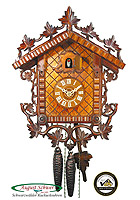 1-Day Cuckoo Clock 1885 Train Station 11.8 inch