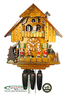 8-Day Cuckoo Clock Chalet Music Band, 15.3 inch