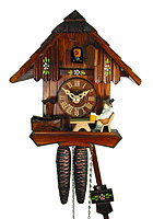 1-Day Cuckoo Clock Beerdrinker 7.9 inches