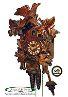 1-Day Cuckoo Clock Feeding Birds, 12.6in