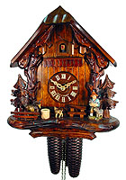 8-Day Chalet Cuckoo Clock: The Goatherd, 12.2inch