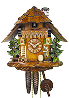 1-Day Cuckoo Clock The Hunter, 9.84 inch