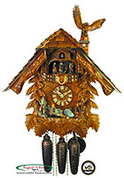 8-Day Cuckoo Clock Chalet Music The Hunter's House, 19inch