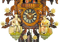 8-Day Cuckoo Clock Carving Music, End of Summer, 19.3 inch