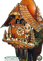 8-Day Cuckoo Clock Chalet Music: The Witch Cottage, 18.5 in
