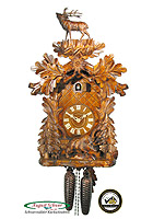 8-Day Carving Cuckoo Clock The Wild Boar 20.9 inch