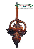 8-Day Carving Cuckoo Clock Fox & Grapes, 23.6inch