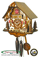 1-Day Cuckoo Clock Timberframe Cottage 9.5 inches