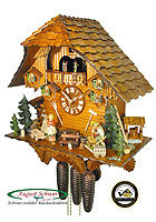 8-Day Cuckoo Clock Chalet Music: The Coaster Wagon, 17.3 inch