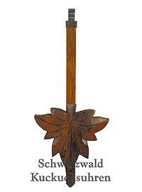 Cuckoo Clock Pendulum large Maple Leaf 7.28inch