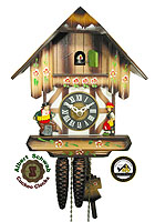 1-Day Cuckoo Clock Timberframe House, 10inch