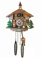 Quartz Cuckoo Clock Bell Tower Chalet, 11.4inch