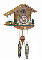 Quartz Cuckoo Clock Turning Goats, 8.66 inch