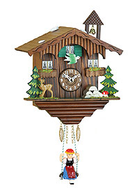 Kuckulino Quartz Clock Swiss Chalet with Bell Tower, 6.7inch