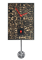 Cuckoo Clock Silhouette black, Quarz-Movement, 11.4inch