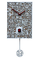 Cuckoo Clock Silhouette white, Quarz-Movement, 11.4inch