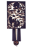 8-Day Cuckoo Clock Silhouette Design, black, 11inch
